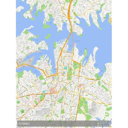 Sydney, Australia Map Poster Wall (Shops For Sale In Australia)