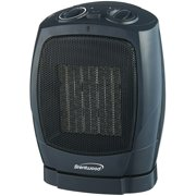 Brentwood H-C1600 1500-Watt Portable Oscillating Ceramic Space Heater and Fan, Black