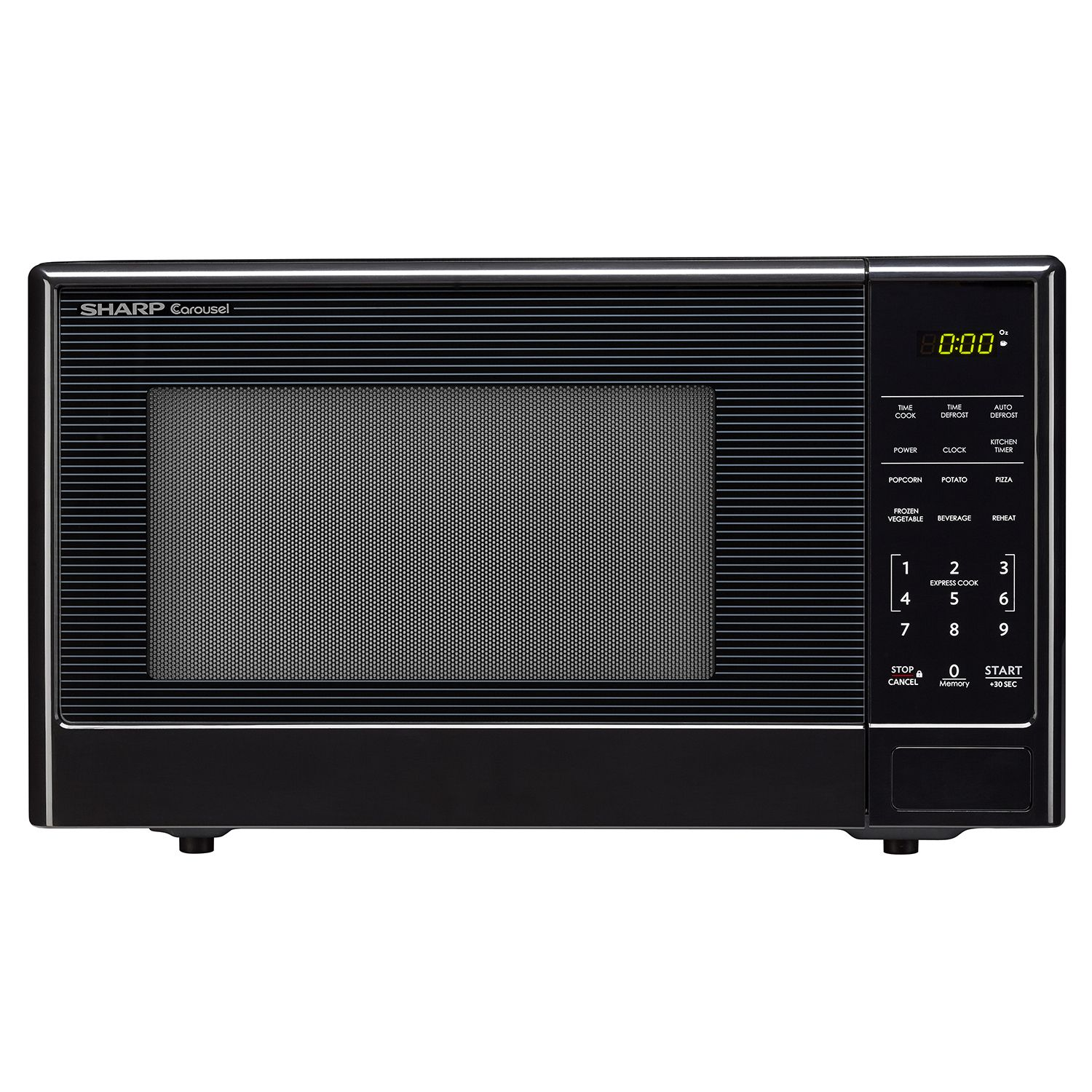 Sharp Compact 1.1 cu.ft. Stainless-Steel Countertop Microwave Oven