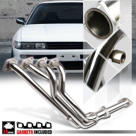 SS 4-1 Exhaust Header Manifold for 89-94 Nissan 240sx S13 Silvia KA24 2.4 DOHC 90 91 92 93