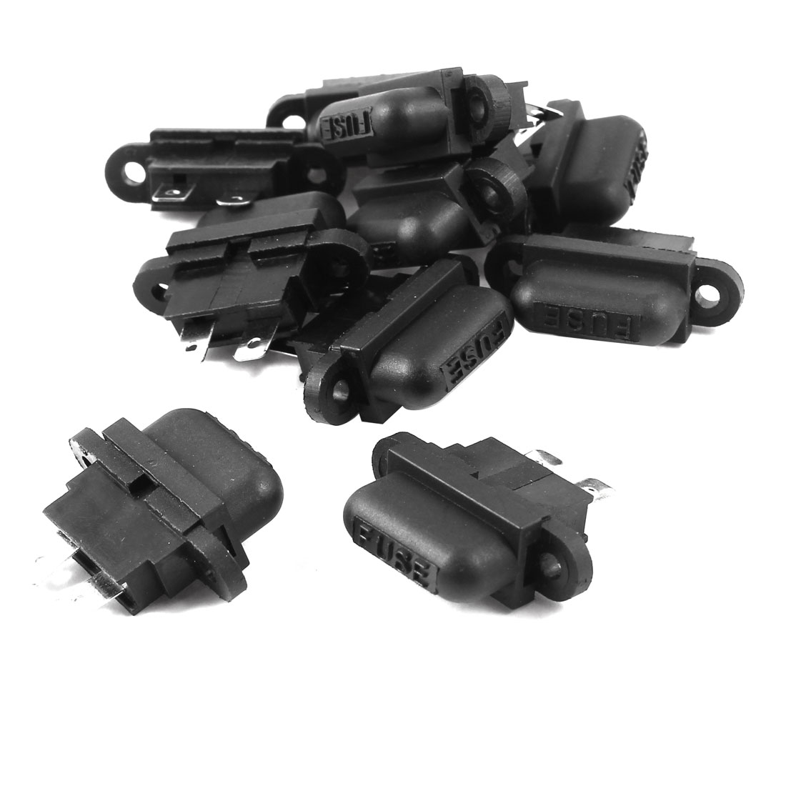 40A Black Plastic Housing Female Car ATO Fuse Holder 10 Pieces