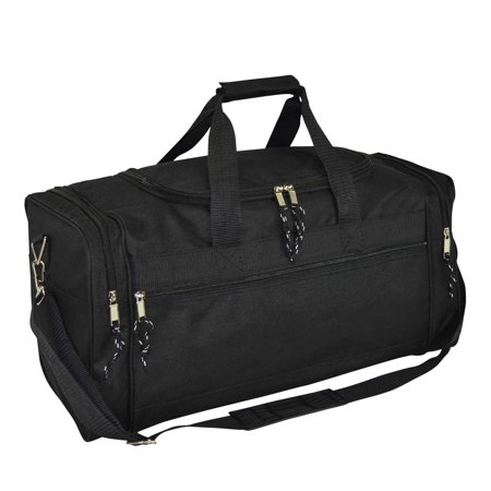 "DALIX 21"" Blank Sports Duffle Bag Gym Bag Travel Duffel with Adjustable Strap in Black"