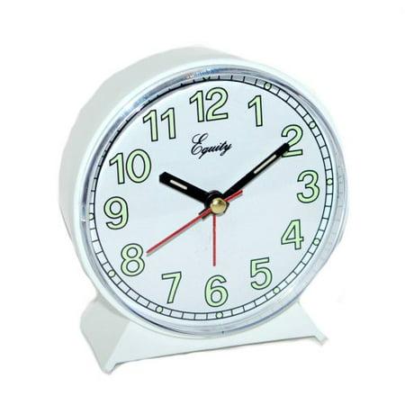 Equity by La Crosse 14076 Analog Quartz Alarm clock, white (Alarm Clock Analog White)