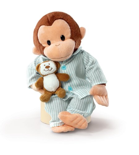 """Russ Berrie Curious George In Pajamas 12"""" Plush by Russ Berrie"""
