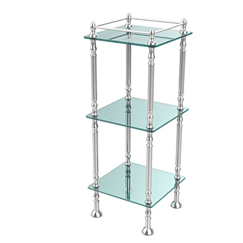 Allld|#Allied Brass ET-14X143TGL-PC Three Tier Etagere with 14 Inch x 14 Inch Shelves, by Allied Brass Mfg.
