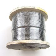 """250 ft - Stainless Steel T316 7X7: 1/4"""" Wire Rope for Cable Railing and Deck Railing"""