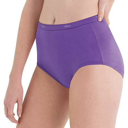 Hanes Women's Cotton Brief Panties - 10 (Nylon White Brief)
