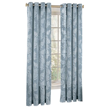 Fossil Fern Pattern Semi-Sheer Window Curtain Panel to Allow for Privacy and Sunlight - Home Decor for Any Room, 54
