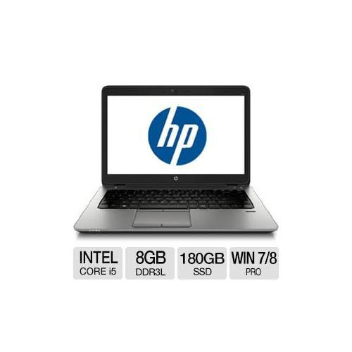 "HP EliteBook 840 G1 Intel Core i5 8GB Memory 180GB SSD 14.0"" Notebook Windows 7 Professional / Windows 8 Pro 64-bit - F2"