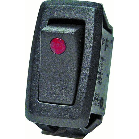 Calterm 40341 Automotive Rocker Switch with Red LED Dot 12 VDC 32 A