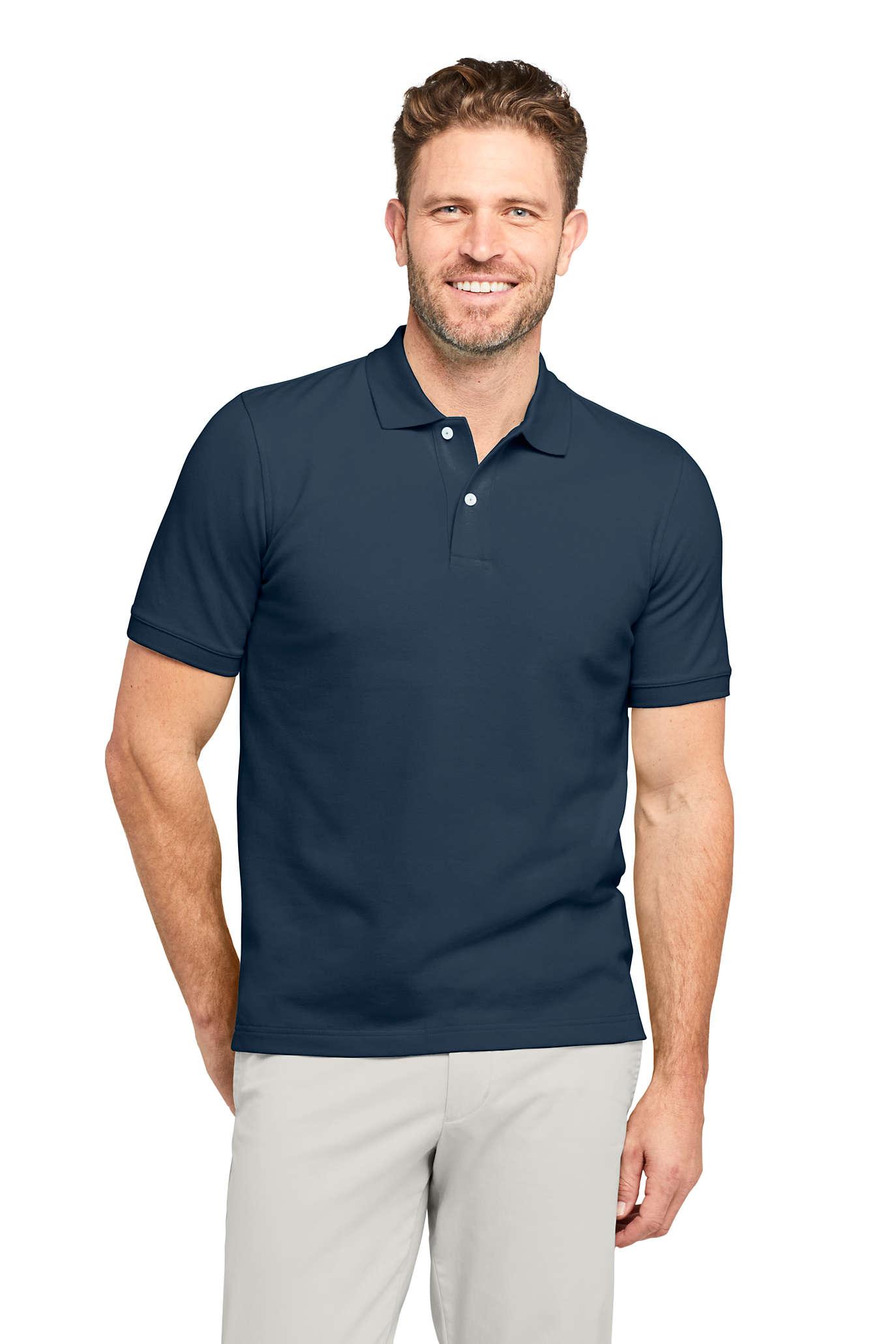 Men's Short Sleeve Mesh Polo