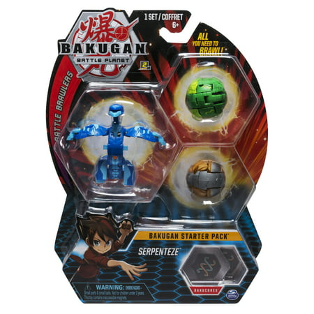 Bakugan Starter Pack 3-Pack, Serpenteze, Collectible Action Figures, for Ages 6 and (Bakugan Single Loose Figure)