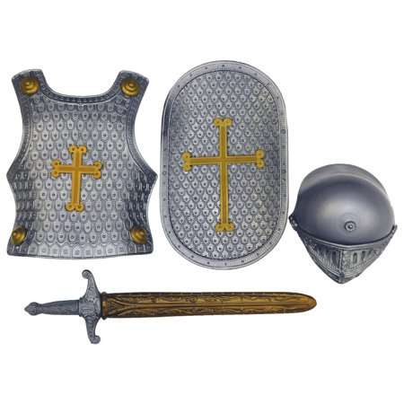 Crusader Costume Set (Grey Crusader Set Child Halloween)