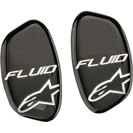 Alpinestars 6952514-170 Hinge Covers for Fluid Pro Knee Brace Set - Black Metallic