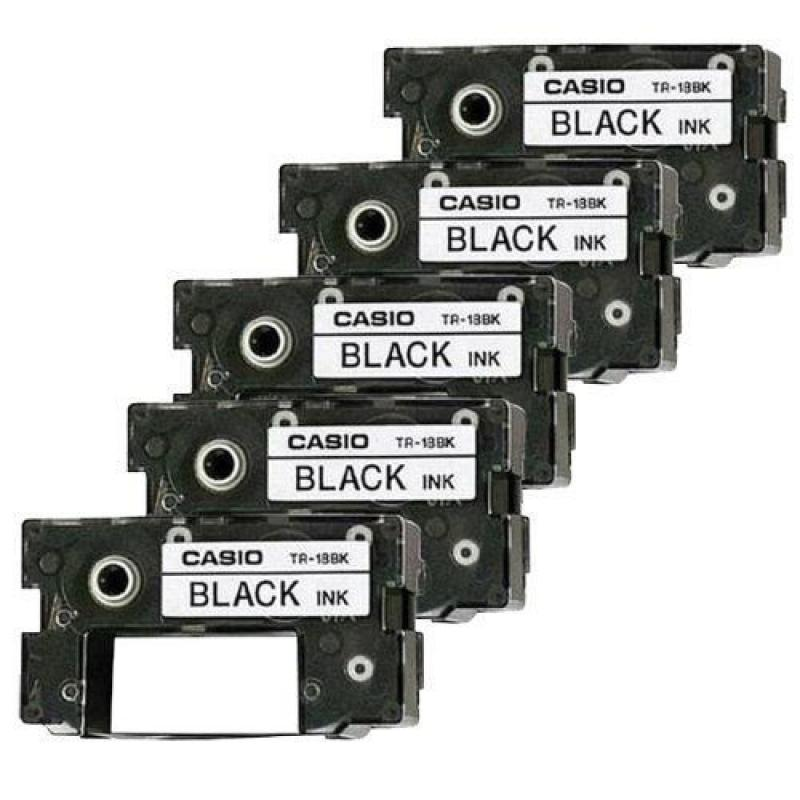 5 Casio TR-18BK Black Ink Ribbon TR18BK for CW50, CW75, C...