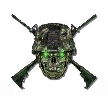 - Soldier Military Army Camouflage Skull - Vinyl Sticker Waterproof Decal Sticker 5