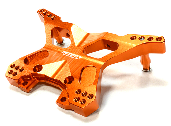 Integy RC Toy Model Hop-ups C26399ORANGE Billet Machined Rear Shock Tower for Traxxas 1 10... by Integy