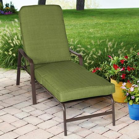 Mainstays Crossman Chaise Lounge Green