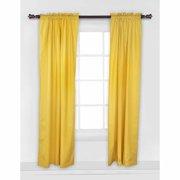 Bacati - Pin Dots Curtain Panel 42 x 84 inches 100% Cotton Percale Fabrics, Yellow