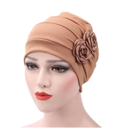 Women Hijab Turban Hat Lady Cancer Chemo Hair Loss Cap Head Scarf Wrap (Best Way To Cover Gray Hair For Black Hair)