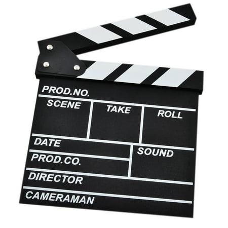 cf7e89d3d60b Clapboard Director's Clapper Board Film Cut Action Scene Clapper Board  Slateboard