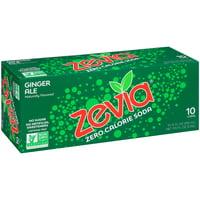 Zevia® Zero Calorie Ginger Ale Soda 10-12 fl. oz. Cans