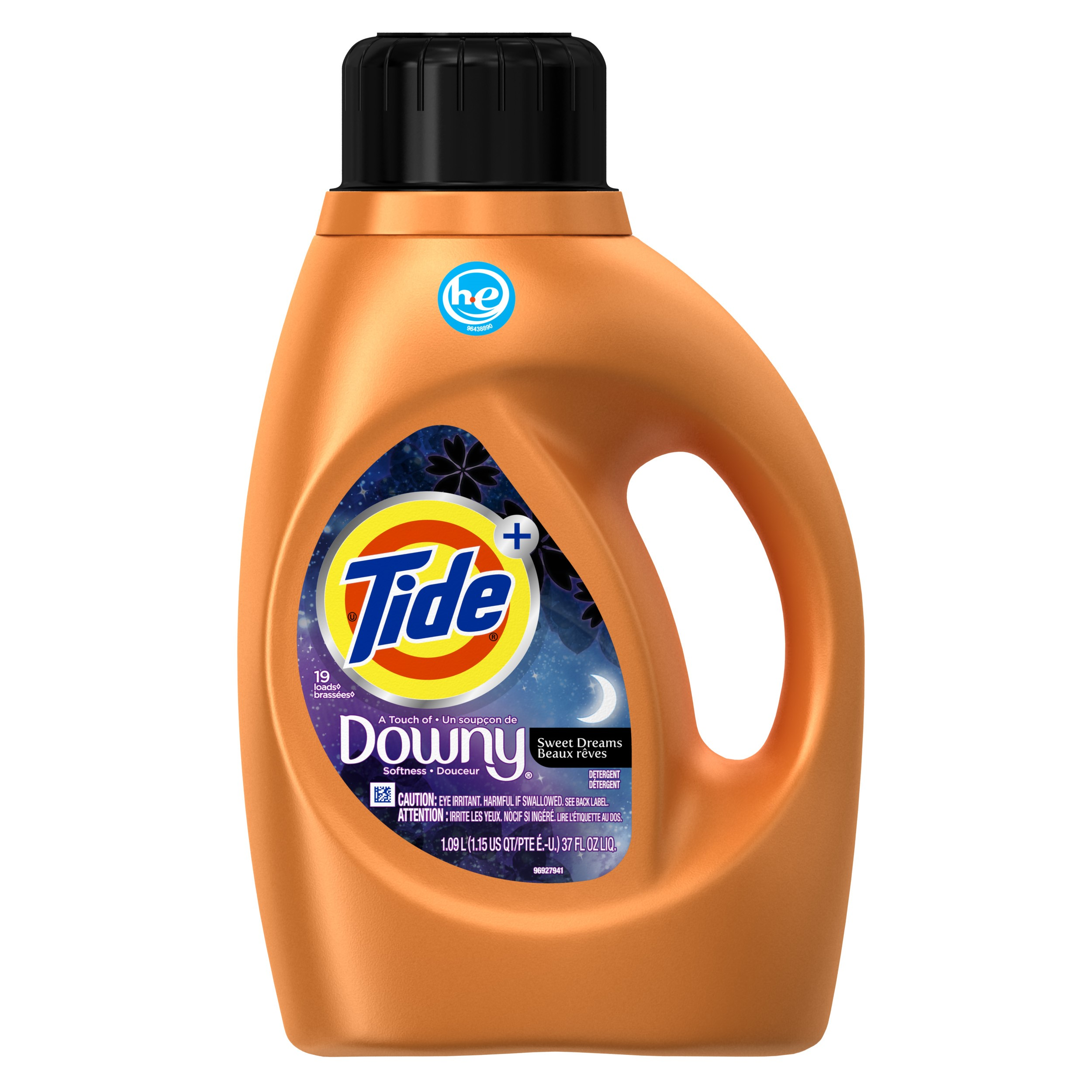 Tide Plus with Downy Laundry Detergent, Sweet Dreams, 19 Loads