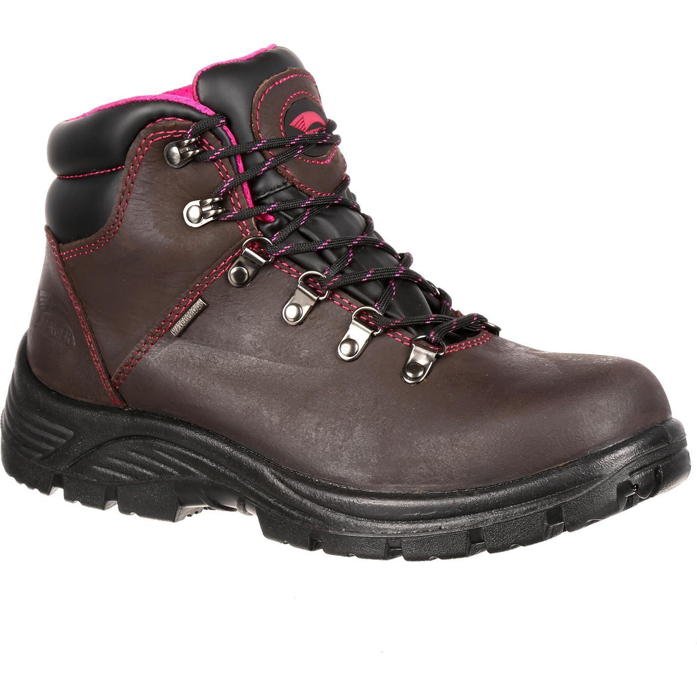 Avenger Women's A7125 Steel Safety Toe Work Boot