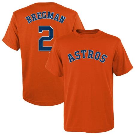 Alex Bregman Houston Astros Majestic Youth Player Name & Number T-Shirt - Orange Alex Rodriguez Shirt