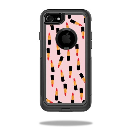 MightySkins Protective Vinyl Skin Decal for OtterBox Commuter iPhone 7 Case wrap cover sticker skins Lipstick Pattern