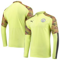 Manchester City Puma DryCELL Quarter-Zip Training Pullover Jacket - Yellow