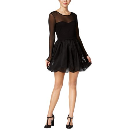 (In Awe Of You Womens Illusion A-line Dress)
