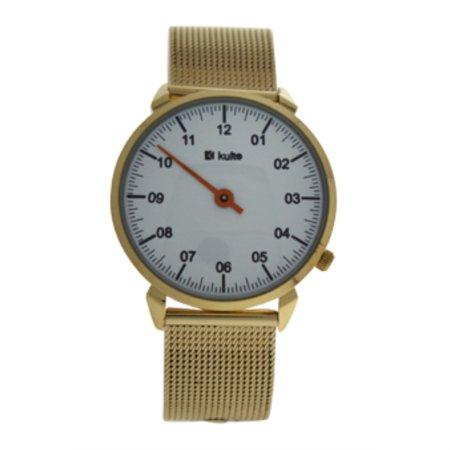 KU15-0008 Gold Stainless Steel Mesh Bracelet Watch by Kulte for Unisex - 1 Pc Watch - image 2 de 2