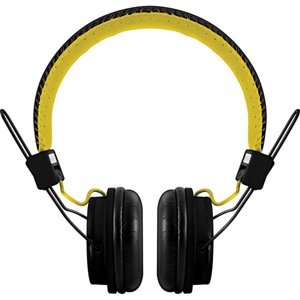 POLAROID PHP8330BLACK/YELLOW Universal Foldable HD Headphones with Mic, Black/Yellow