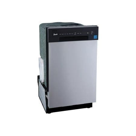 Avanti DW1833D3SE - Dishwasher - built-in - Niche - width: 18 in - depth: 24 in - height: 34.5 in - black/stainless steel