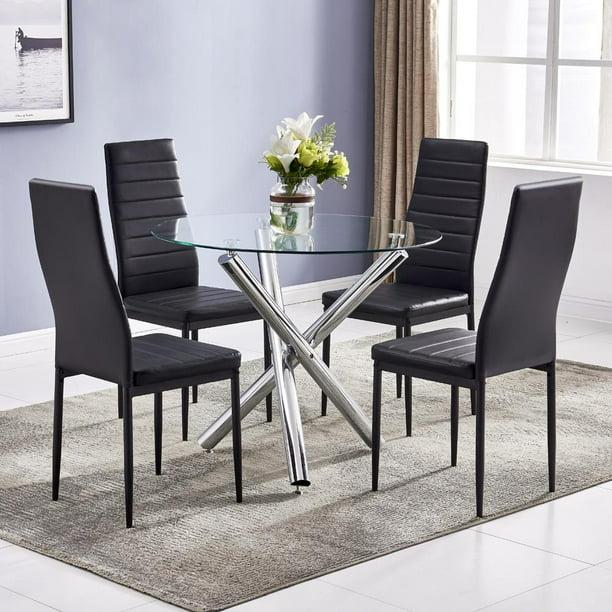 winado 5 piece round dining table set modern kitchen