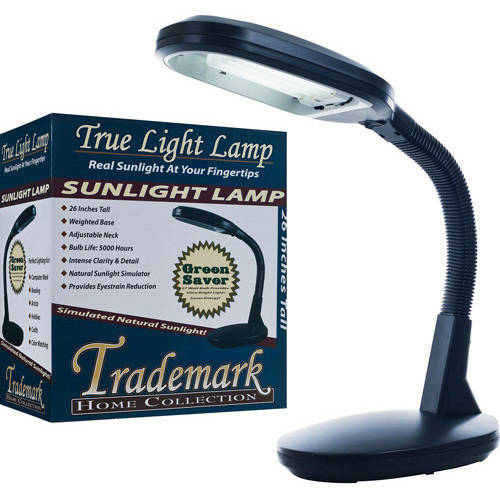 Natural Sunlight Desk Lamp, Great For Reading and Crafting, Adjustable Gooseneck, Home and... by TRADEMARK GAMES INC