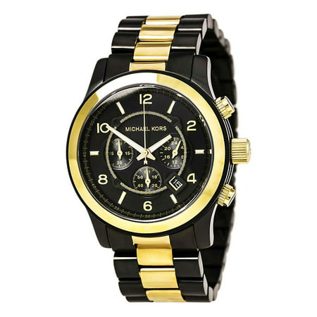 Michael Kors MK8160 Men's Runway Gunmetal and Yellow Gold Steel Chronograph Watch