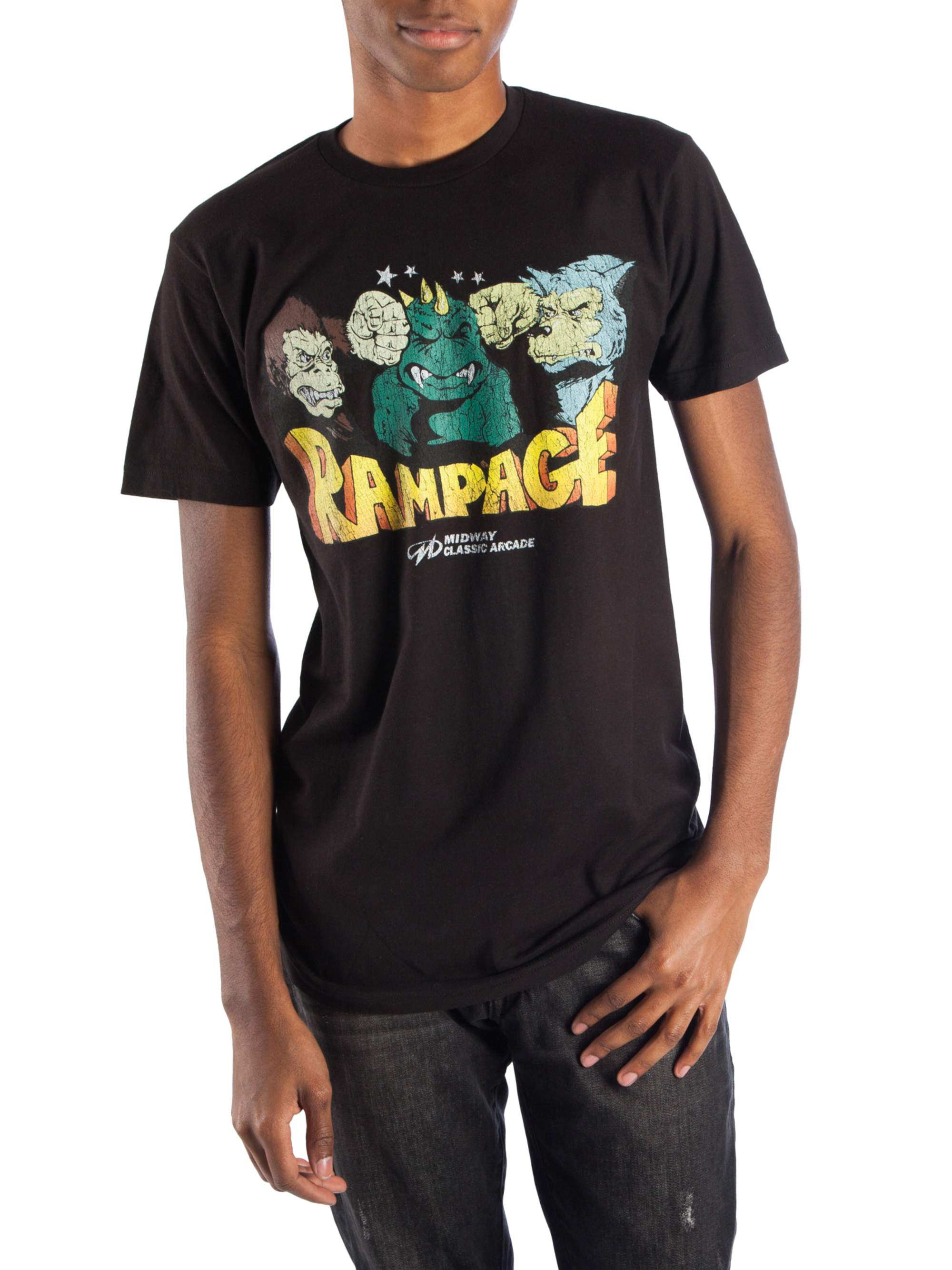 Midway Games Rampage Characters Men's Short Sleeve Graphic T-shirt