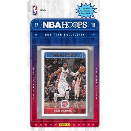Detroit Pistons 2017 2018 Hoops Basketball NBA Licensed Factory Sealed 8 Card Team Set with Avery Bradley, Andre Drummond, Luke Kennard Rookie plus