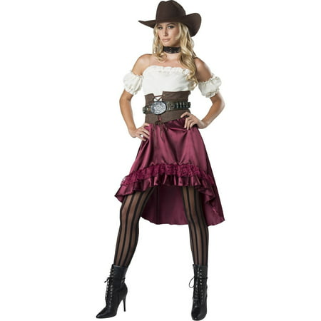 Western Saloon Halloween Costumes (Saloon Gal Women's Halloween)