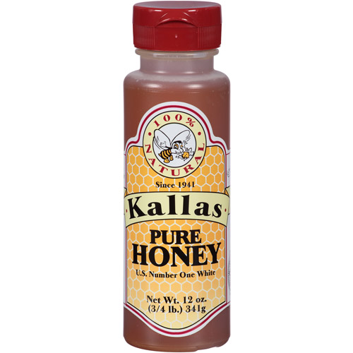 Kallas Pure Honey, 12 oz, (Pack of 12)
