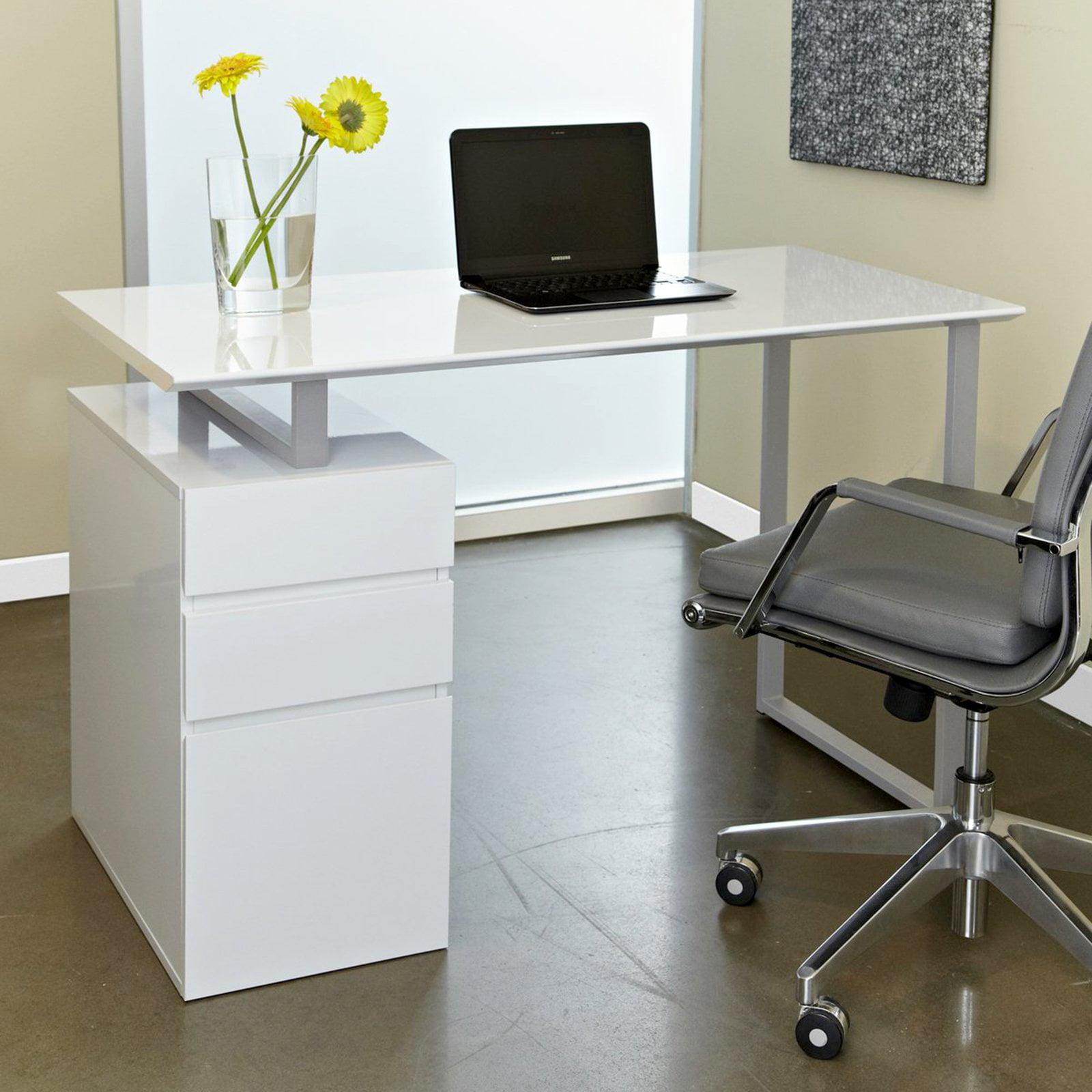 Genial Tribeca Study Desk With Drawers   Walmart.com
