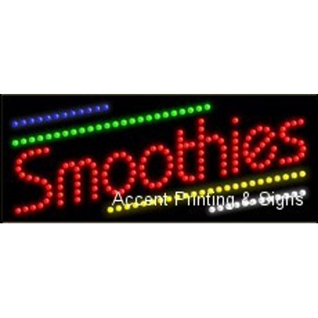 - Smoothies LED Sign (High Impact, Energy Efficient)