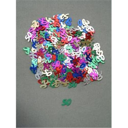 Party Deco 04050 10mm Multi 50 Confetti - Pack of 12