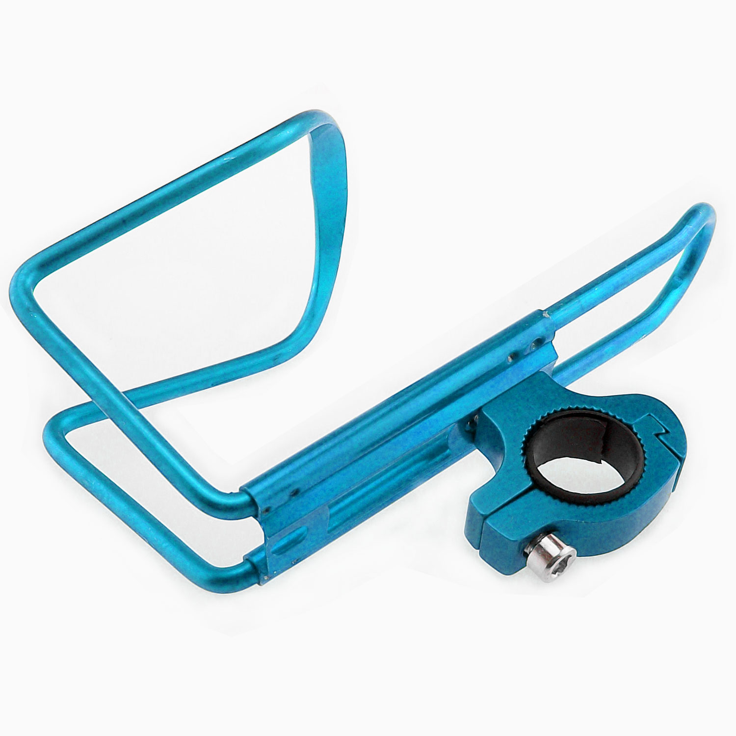 TrendBox Alloy Bicycle Bike Water Bottle Cage For Sports Drinking Racing Outdoor Mountain Hiking Lightweight Easy to install - Blue