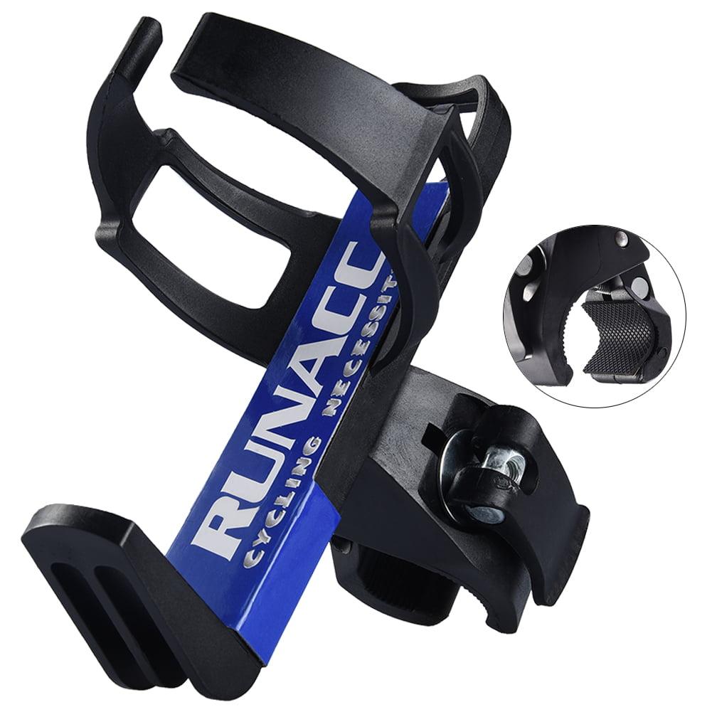 RUNACC Bicycle Water Bottle Holder Cage Rack 360 Degree Rotating for Stroller Bike, Black