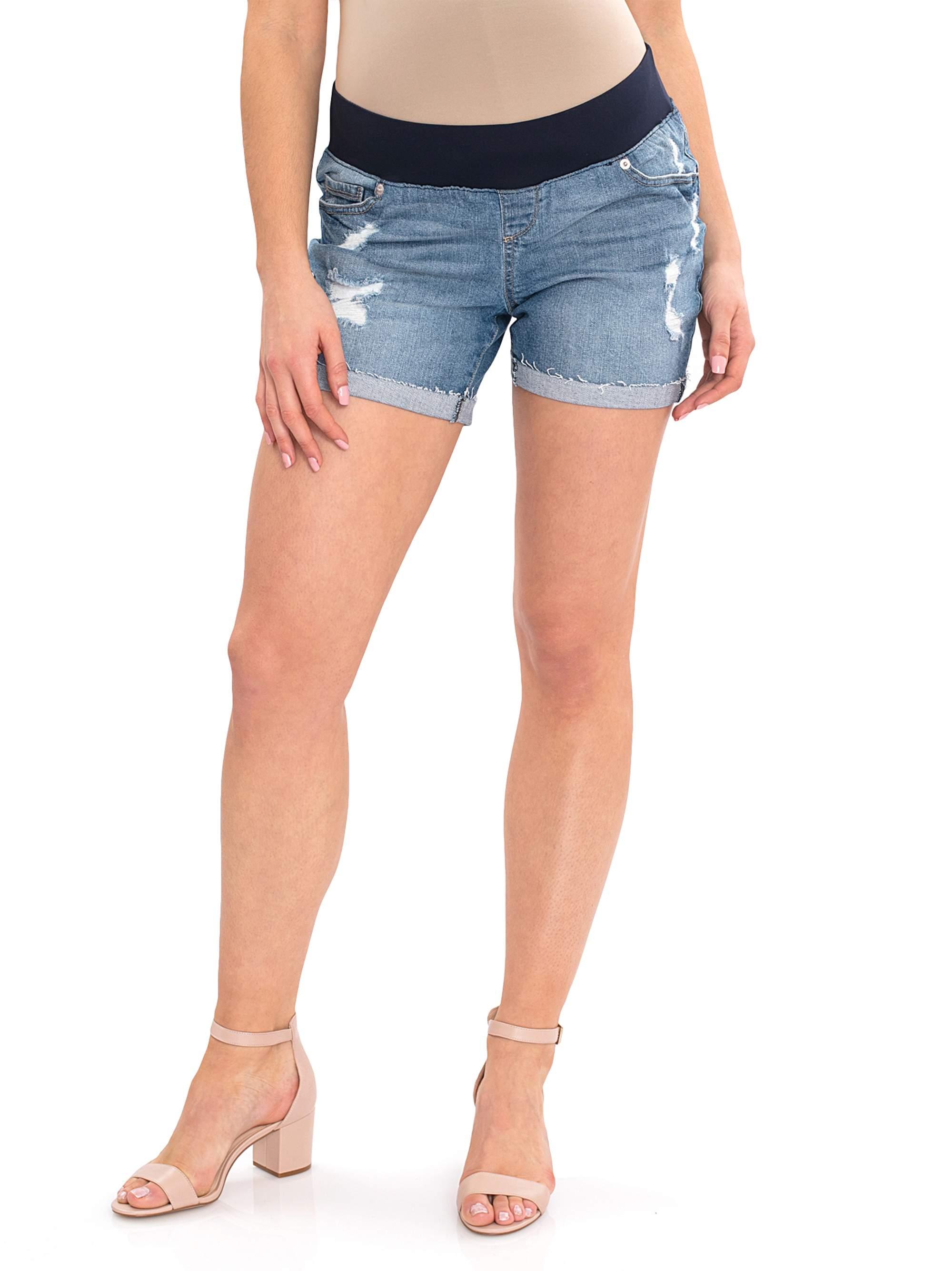 c6dd818a16fcf Great Expectations - Maternity Denim Shorts - Walmart.com