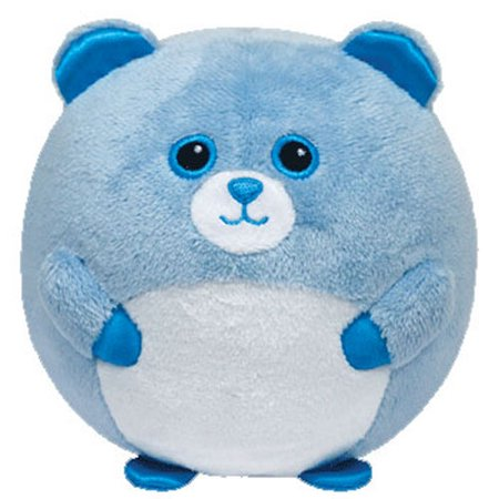 TY Beanie Ballz - BLUEY the Blue Bear w/ Rattle (Regular Size - 5 inch)