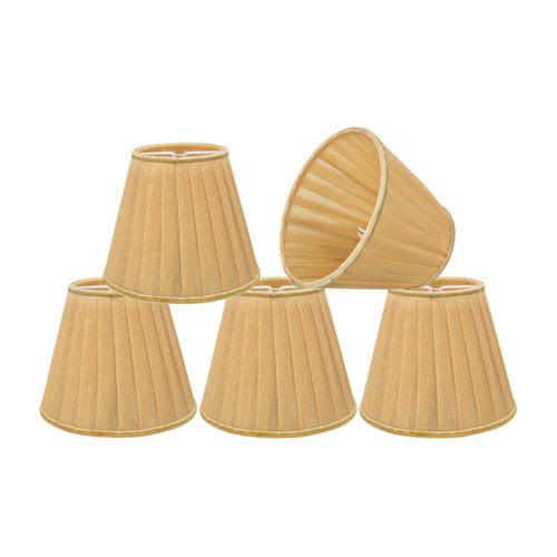 Alcott Hill Pleated 5'' Fabric Empire Lamp Shade (Set of 5)